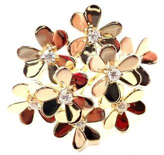 Van Cleef & Arpels Frivole 18k Gold Flower Diamond Ring