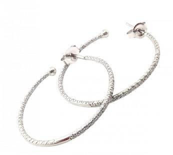 Cathy Waterman Platinum Diamond Inside-Out 1ct Earrings