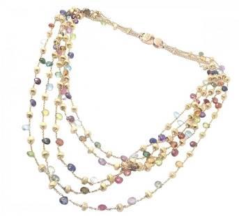 Marco Bicego 18k Paradise Multicolor 5-Strand Necklace