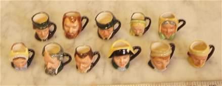 12 Royal Doulton Tiny Character Mugs