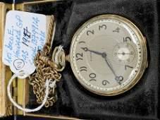 Howard  Vintage Pocket Watch lazy numbers