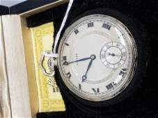 Howard Vintage white gold plated pocket watch