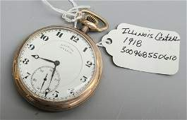 ILLINOIS CENTRAL 1918 POCKET WATCH