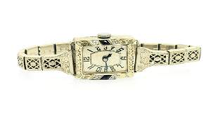 Art Deco Diamond and Sapphire Ladies Watch