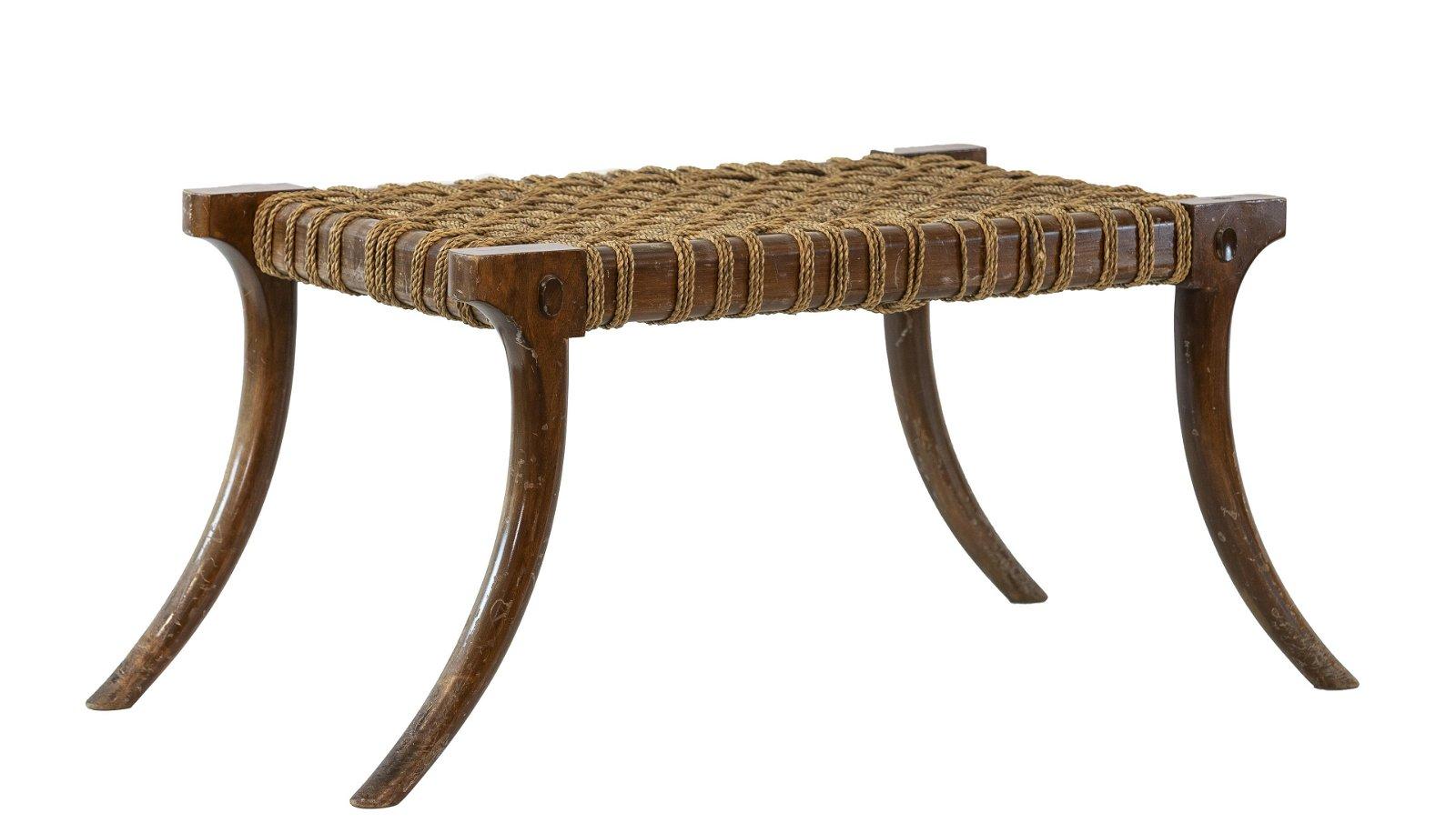 Robsjohn-Gibbings Style Klismos style stool
