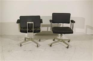 Pair of Royalchrome Modern Desk Chairs