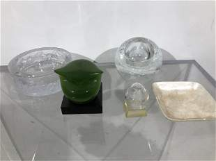 Collection of Five Objects including Faberge Egg