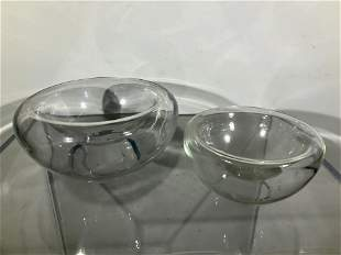 Per Lutken Style Pair Bowls, Pair
