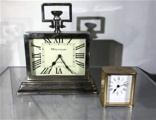 Two Table Clocks: Tiffany & Co., and Williams