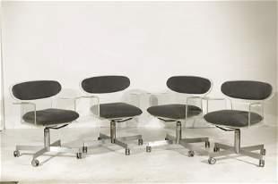 Erwine & Estelle Laverne Swivel Chairs, 4