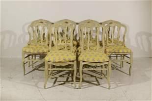 Set 10 Maison Jansen Dining Chairs, branded JANSEN