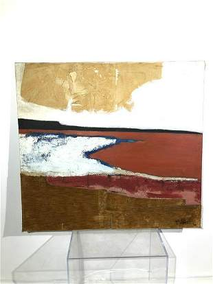 Modernist Mixed Media on Canvas Signed