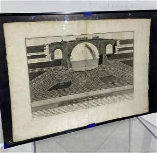 """Gionvanni Battista Piranesi """"Ponte Ferrato"""""""