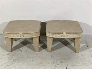 Michael Taylor Style Occasional Tables, Two