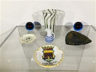 A Group of European Glass & Ceramic Souvenirs