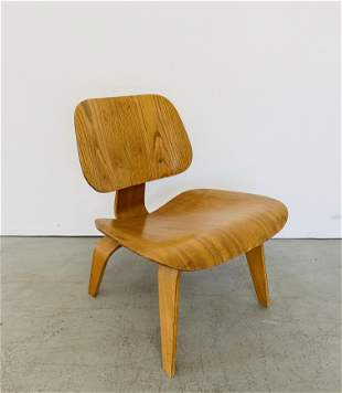 Charles Eames LCW Executed in Highly Figured Ash
