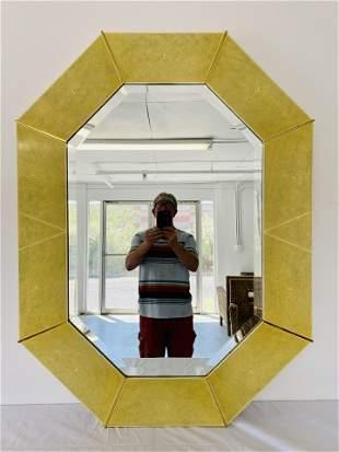 Karl Springer Faux Shagreen Wall Mirror