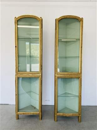 Pair Maison Jansen Corner Cabinets