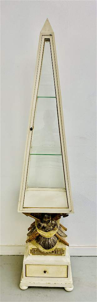 "Italian Obelisk Vitrine from ""Auntie Mame"""