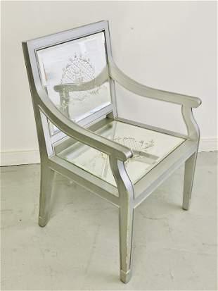 """Philippe Starck Custom Mirrored """"Louis"""" Chair- 2 of 2"""
