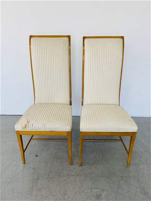 Pair Andre Arbus Style Sycamore Chairs