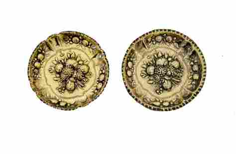 Pair of Gilt Silver Pin Trays