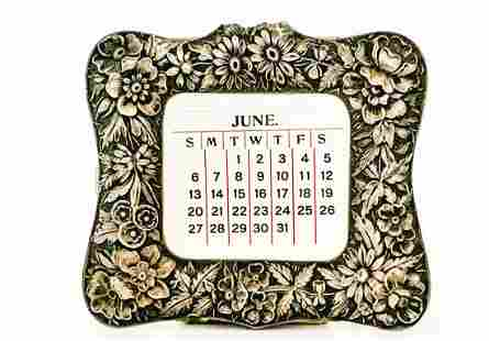 Sterling Silver Desk Calendar by Kirk