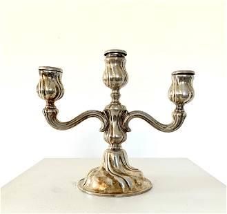 800 Silver Austrian Candlestick
