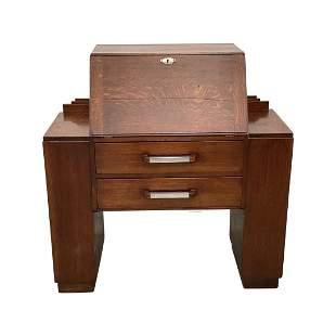 Art Deco Drop Front Desk