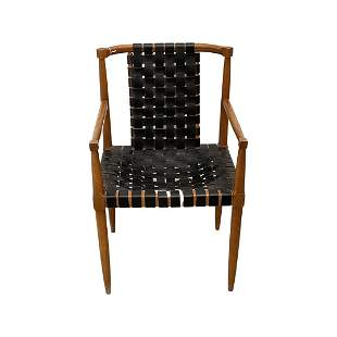 Mid Century Woven Leather Chair