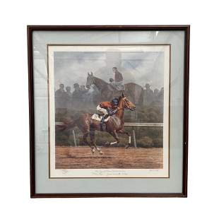 Fred Stone Horse Racing Painitng