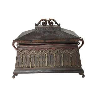 Bronze Colored Tin Box