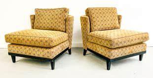 Paul Laszlo Style Slipper Chairs