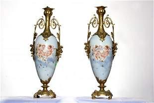 Pair Of Porcelain Vase