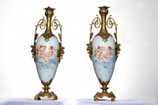 119: Pair Of Porcelain Vase