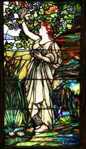125: Fine Example of a Tiffany Window with a Beauty