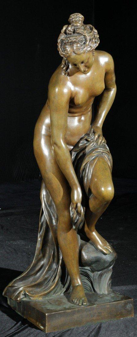 24: Bronze Sculpture of a Semi-Nude, signed