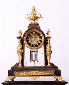 55: Marble & Gilt Bronze Clock by Tiffany & Co.