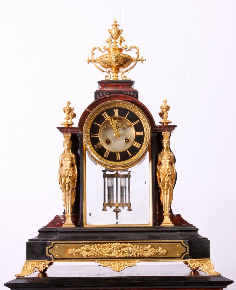 55: Marble & Gilt Bronze Clock by Tiffany & Co.