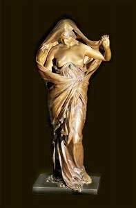 """99: 19th Century Bronze, signed """"E.Barrias"""""""