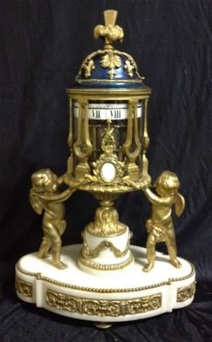 Fine 19th C Annualer Dial Gilt Bronze Clock