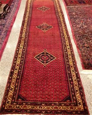 Semi-Antique Handmade Persian Runner Carpet