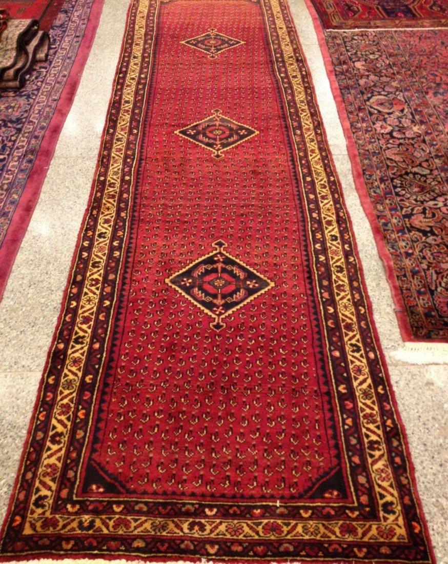 5: Semi-Antique Handmade Persian Runner Carpet
