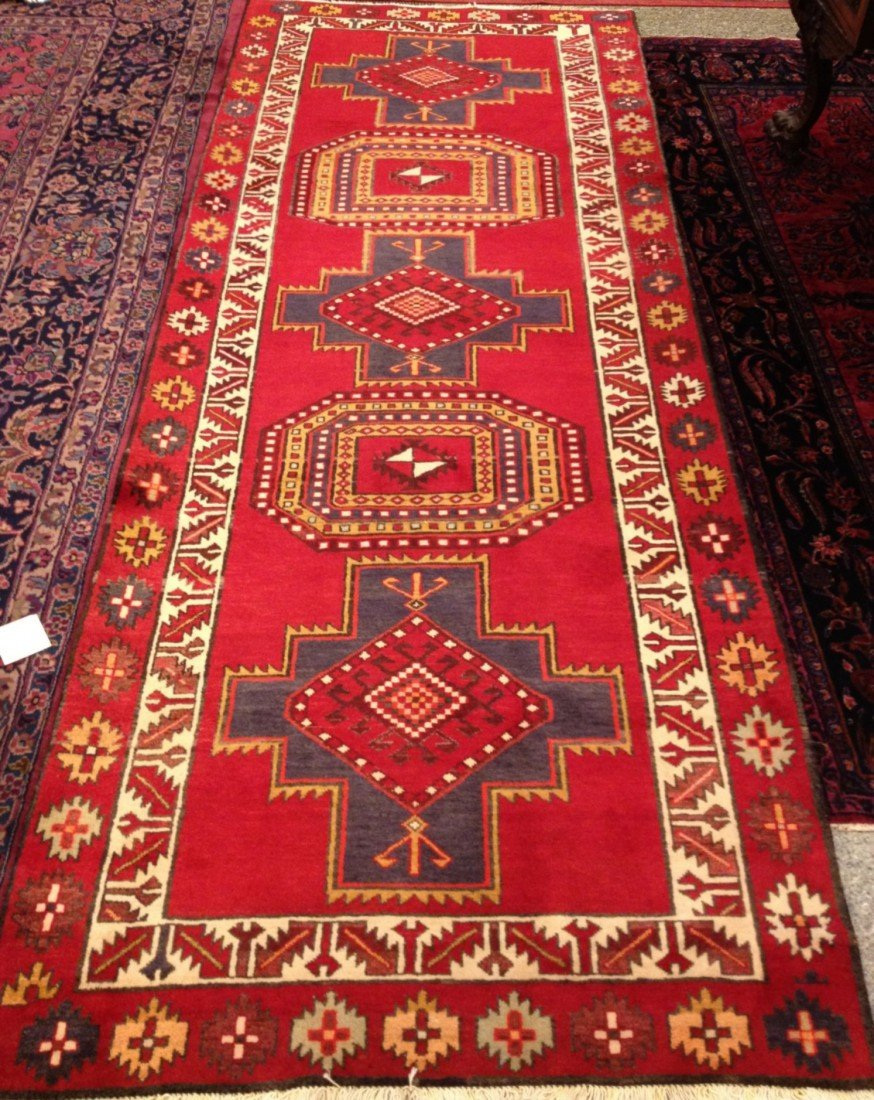 6: Semi-Antique Handmade Persian Runner Carpet