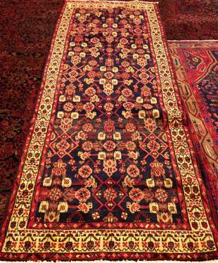 Semi Antique Handmade Persian Runner