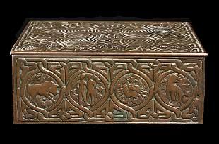 Signed Tiffany Studios NY #1655 Bronze Humidor Box