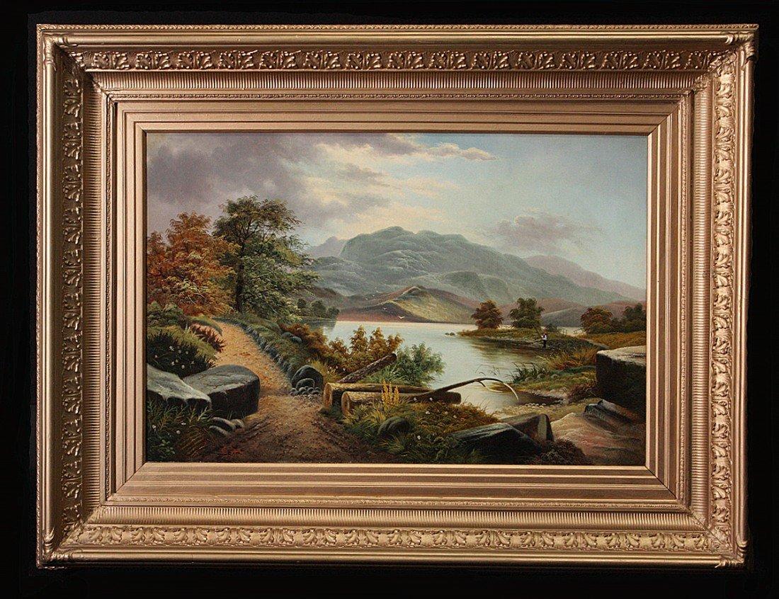 204: 19th C Hudson River Landscape, Oil on Canvas