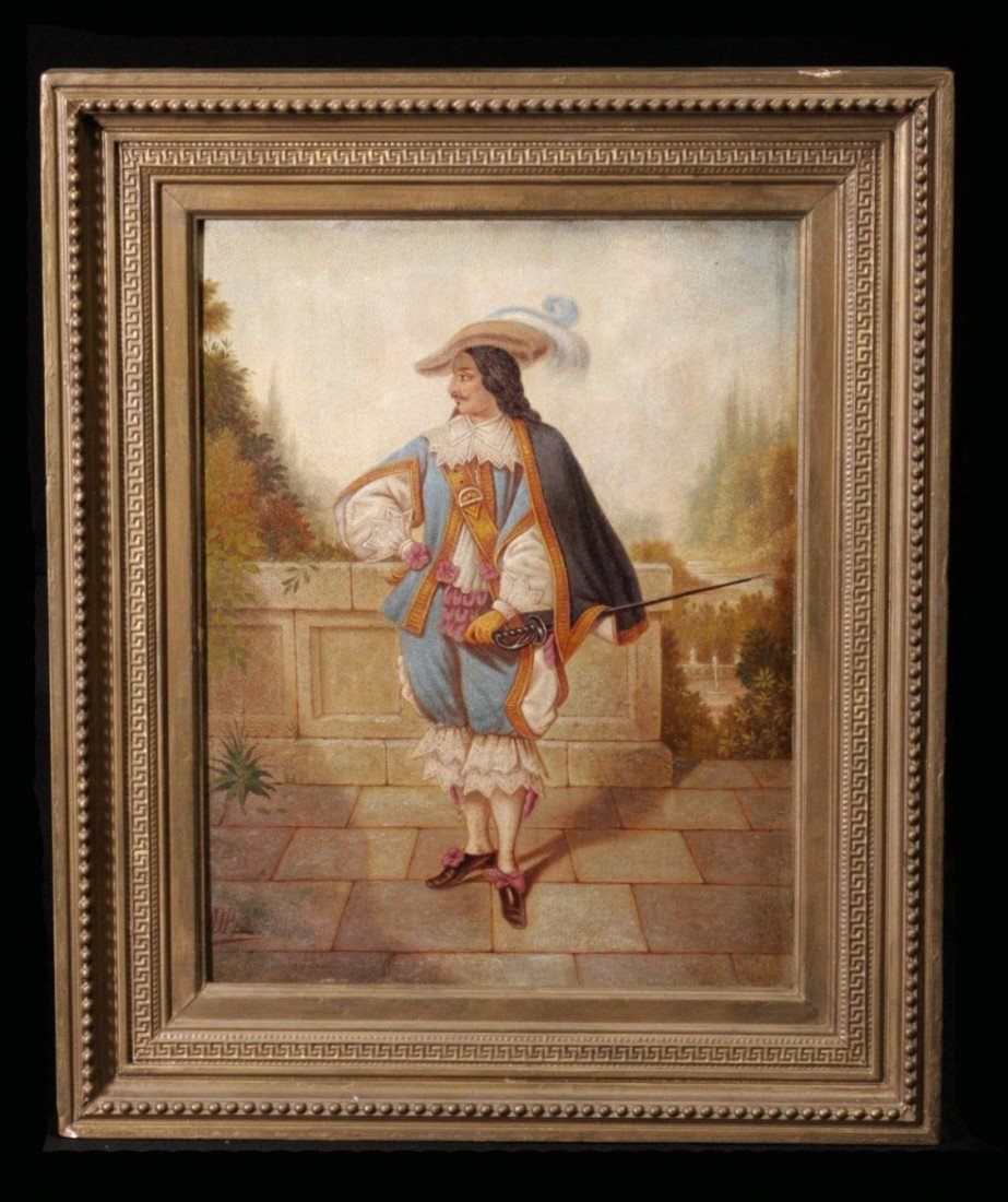 218:Pair 19th C Oil on Canvas Raised Texture Paintings