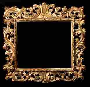 19th Century Ornate Italian Giltwood Mirror