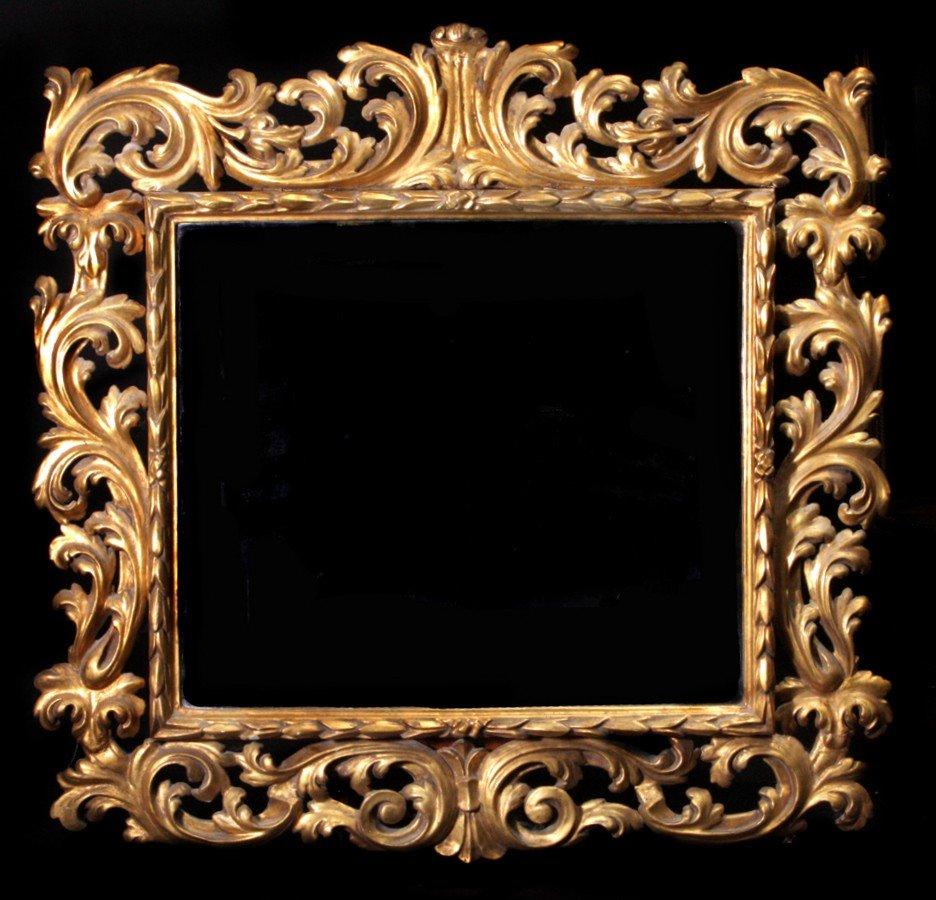 220: 19th Century Ornate Italian Giltwood Mirror